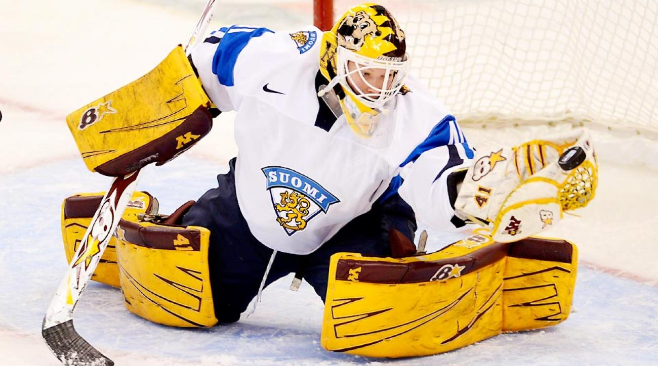 Finland's goaltender Noora Raty stopped 58 shots against the U.S. at the Four Nations Cup in 2013.