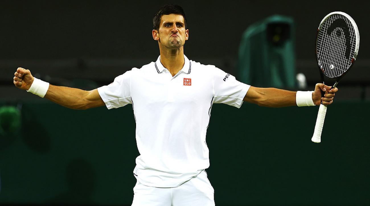 Novak Djokovic defeated Jo-Wilfried Tsonga 6-3, 6-4, 7-6 (5) to advance to the quarterfinals at Wimbledon.