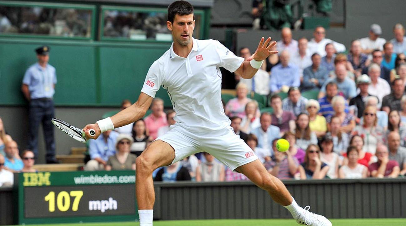 Novak Djokovic will face Radek Stepanek in the second round of Wimbledon on Wednesday.