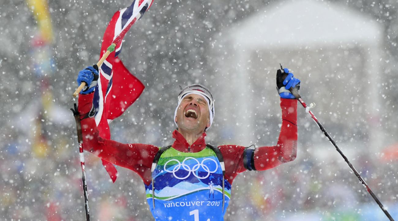 Ole Einar Bjoerndalen continued his Olympic dominance by winning his seventh career gold medal.