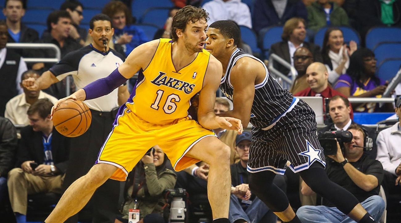 Free agent forward Pau Gasol is rumored to have had talks with multiple teams