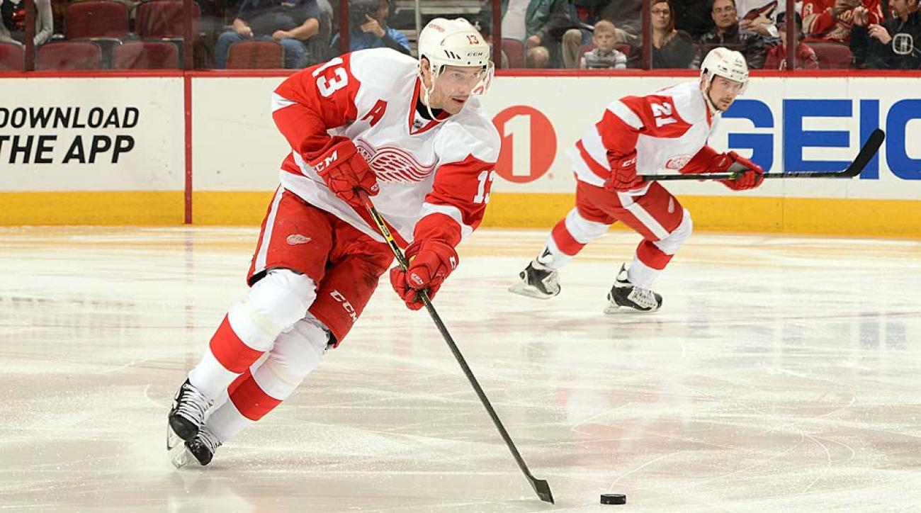 Forward Pavel Datsyuk (13) was taken with the 171st pick by the Red Wings in the 1998 NHL draft.