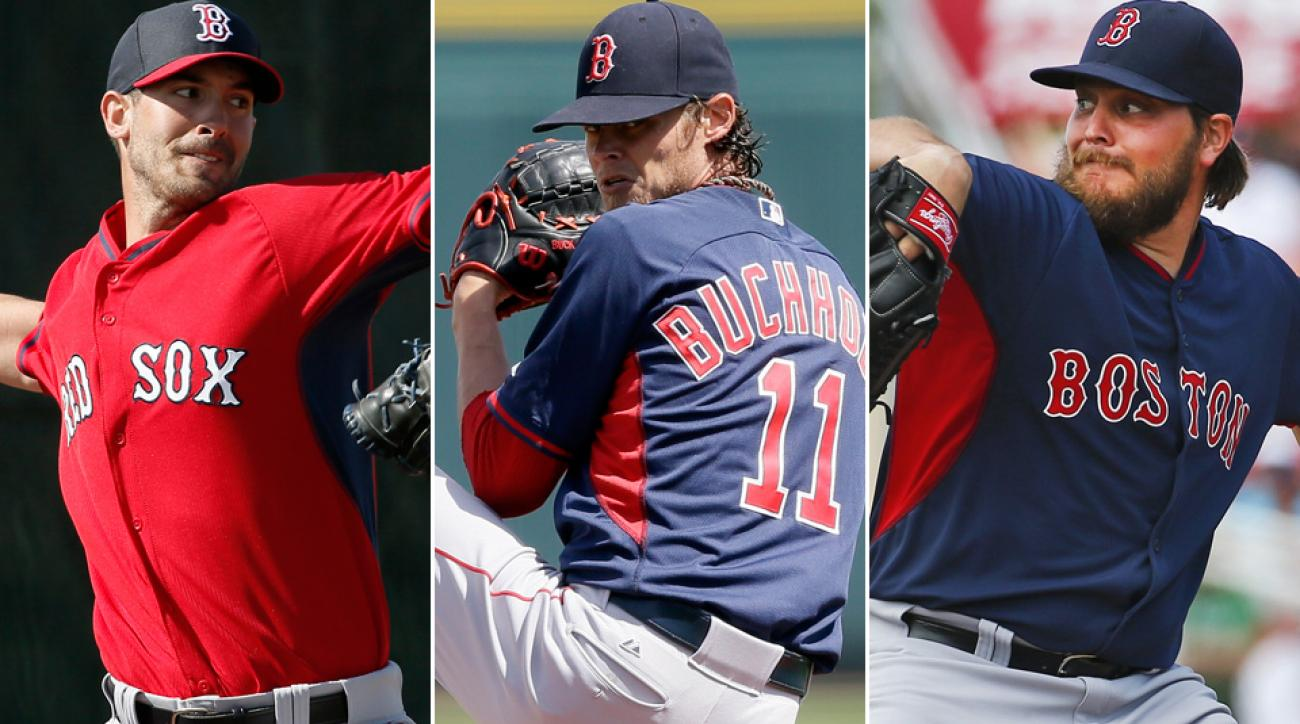 L to R: Rick Porcello, Clay Buchholz, Wade Miley
