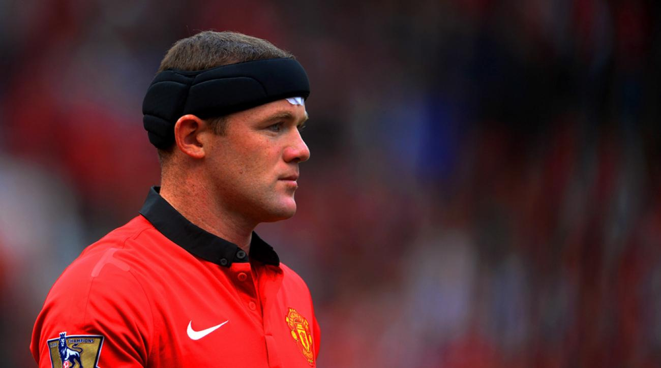 After sustaining a head injury last September, Manchester United star Wayne Rooney donned a Storelli Exo-Shield head guard for extra protection.