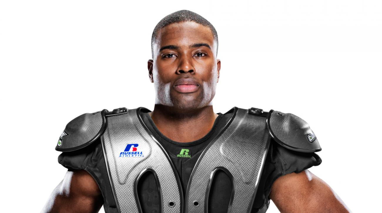 CarbonTek, with the OS Technology shoulder pad system, features a carbon fiber shell, covering the chest, shoulders and back—a first for shoulder pads.