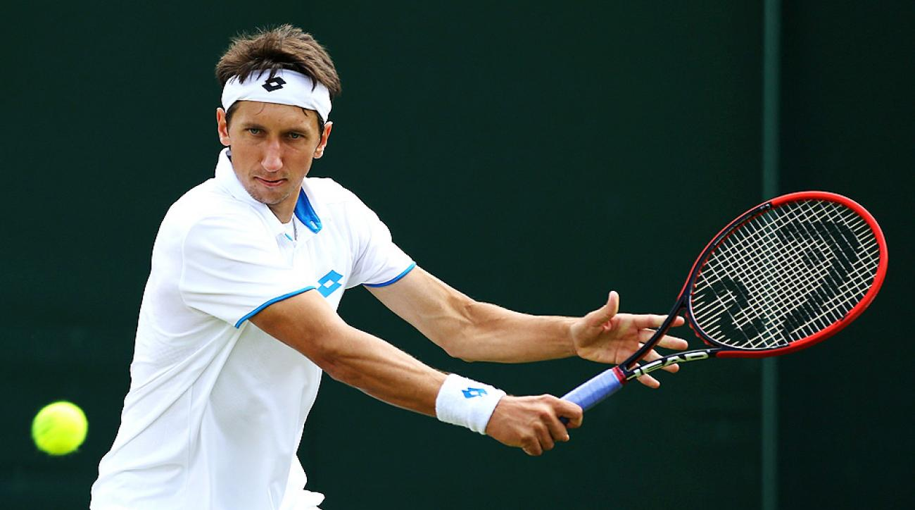 Sergiy Stakovsky ousted No. 12 seed Ernests Gulbis in Wimbledon's second round, just a few weeks after Gulbis reached the semifinals of the French Open.