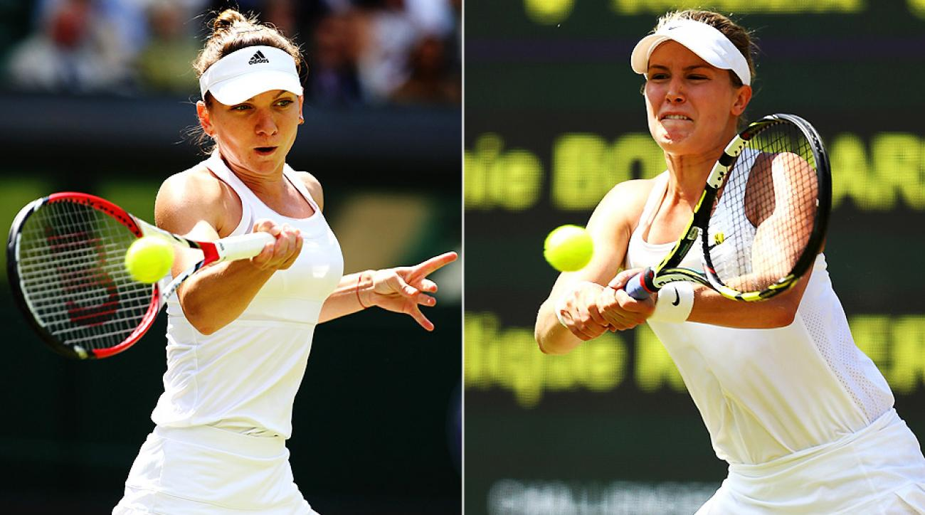 Simona Halep and Eugenie Bouchard will face off for the second time in their careers in the Wimbledon semifinals.