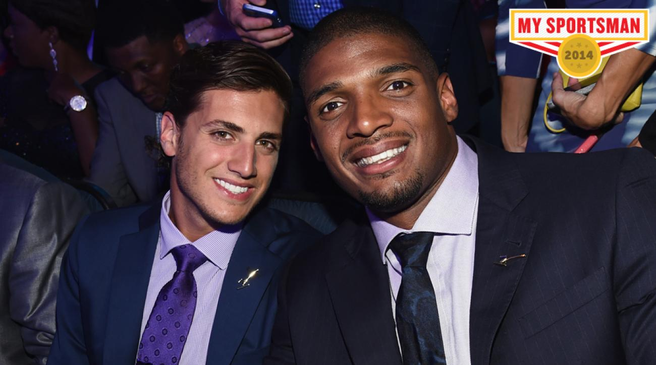 Vito Cammisano and NFL player Sam at the 2014 ESPYS.