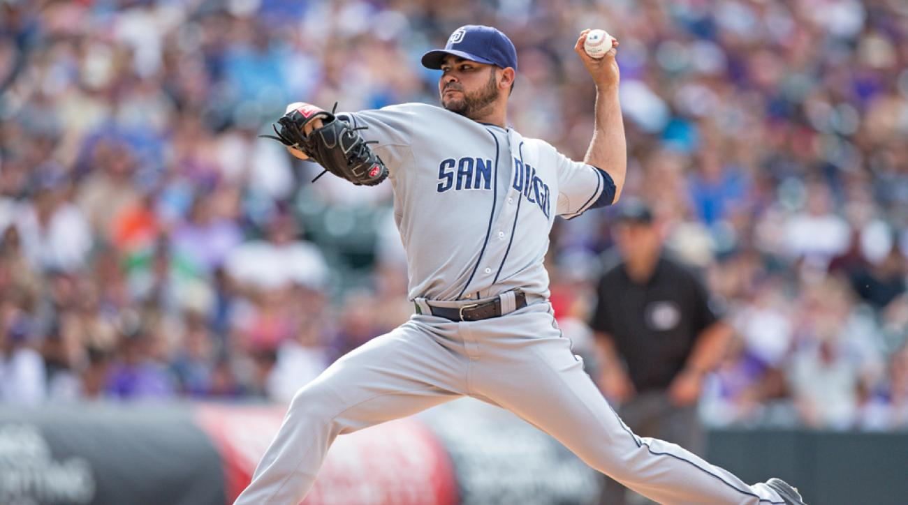 San Diego Padres pitcher Alex Torres created a stir over the weekend with his oversized hat, donning the isoBLOX protective cap for the first time.