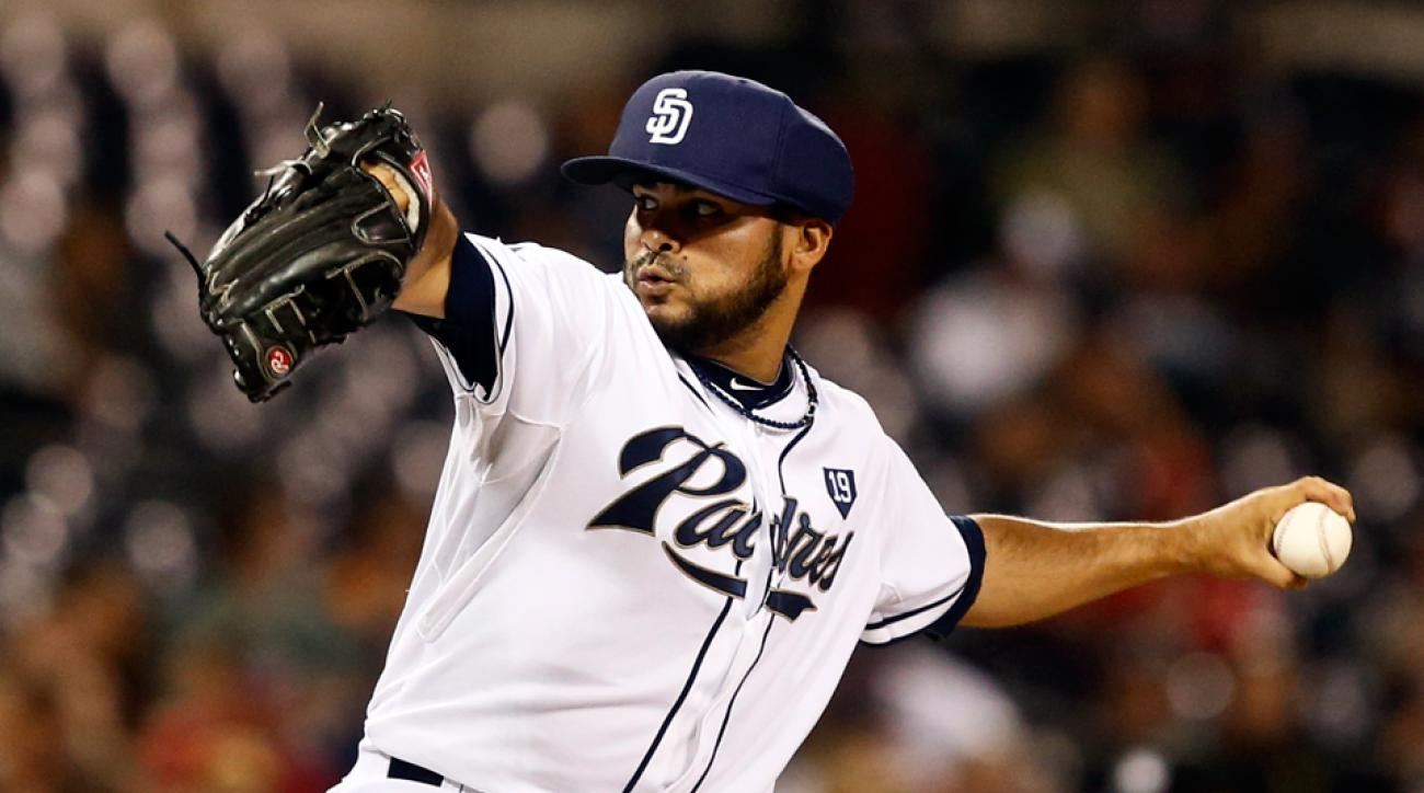 San Diego Padres relief pitcher Alex Torres