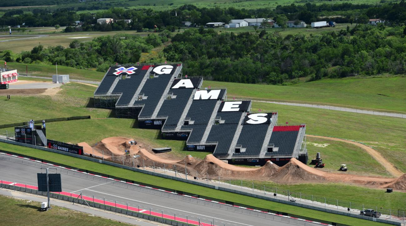 The Circuit of The Americas in Austin, Texas is all set up for X Games Austin 2014.
