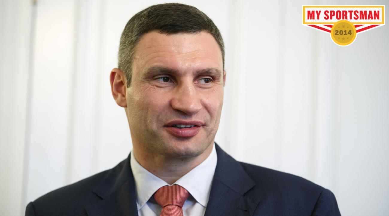 Mayor of Kiev Klitschko speaks in Kiev, Ukraine.