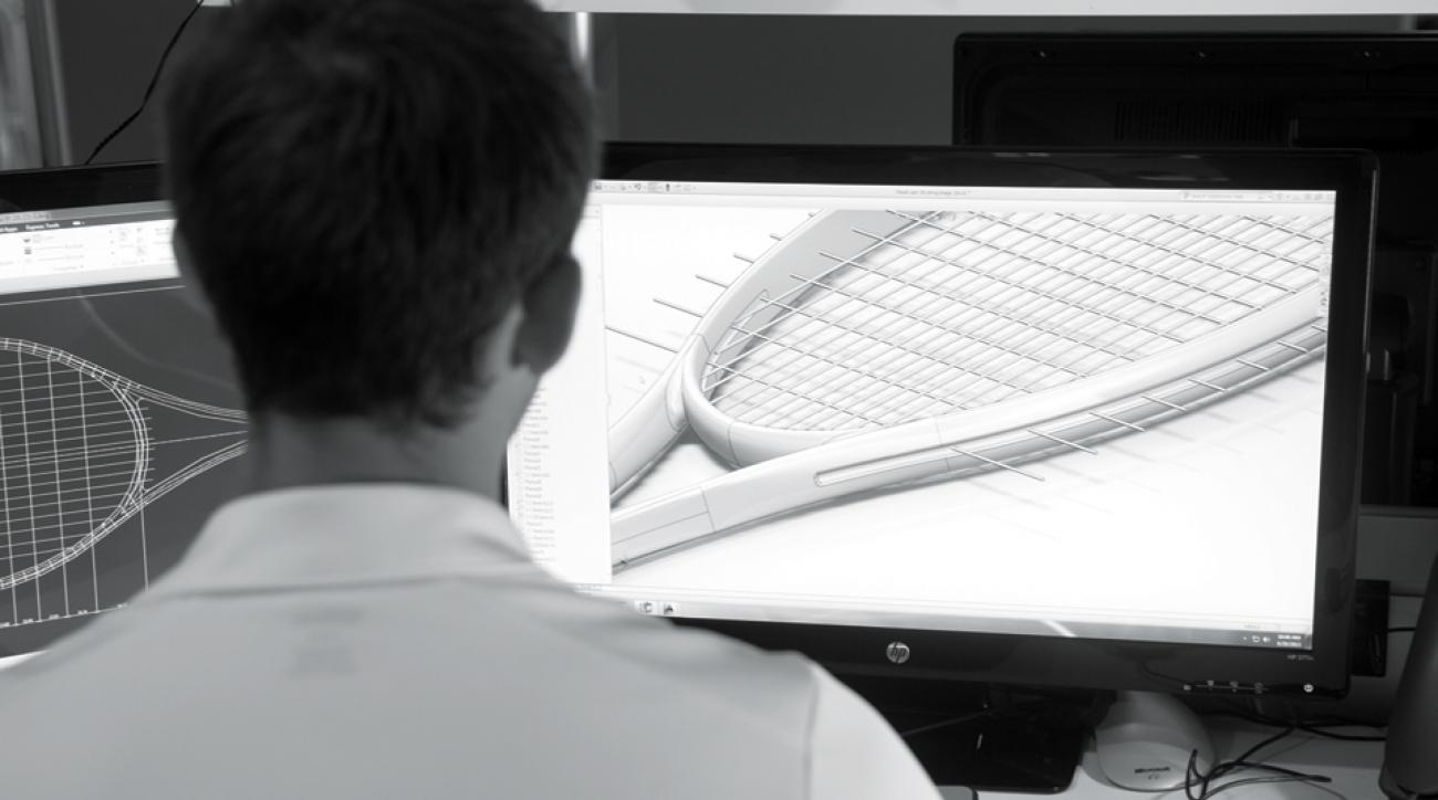 Wilson is redefining the way your tennis racket puts spin on the ball, which allows players to hit harder and still keep the ball in the court.
