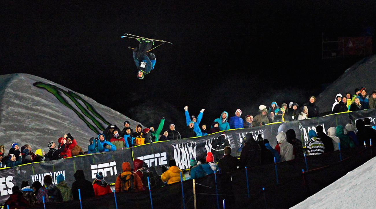 David Wise wins gold during the Men's Ski SuperPipe Finals at the 2014 Winter X Games in Aspen.