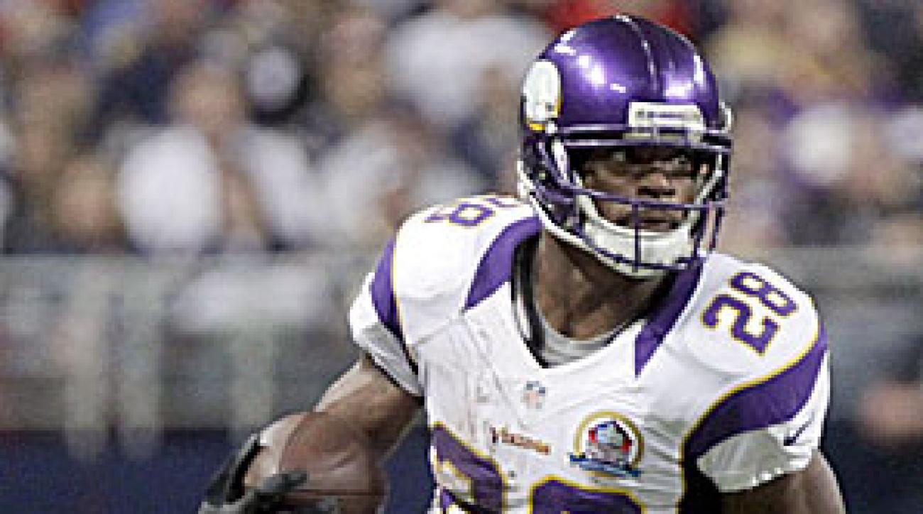 Adrian Peterson ran for more than 200 yards and a touchdown Sunday versus the Rams for the second time in his last three games.