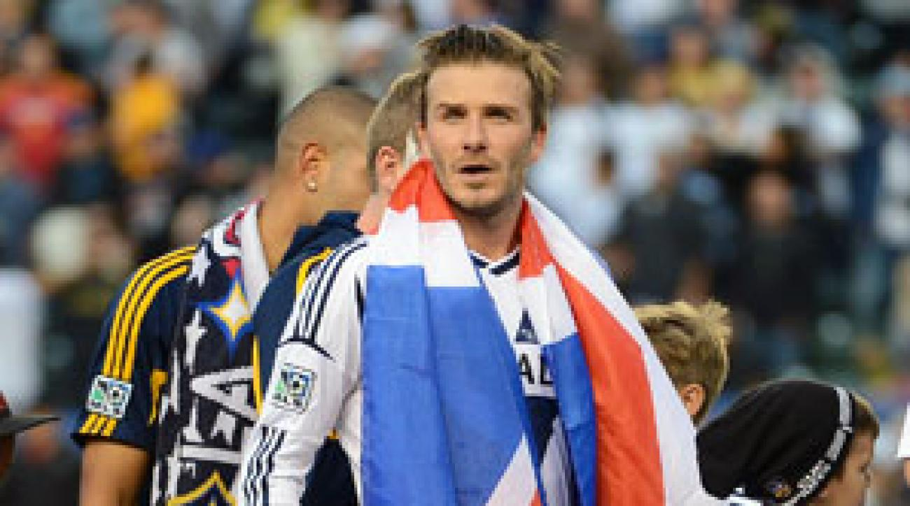David Beckham left the league as a winner after the L.A. Galaxy defeated the Houston Dynamo in the MLS Cup final.