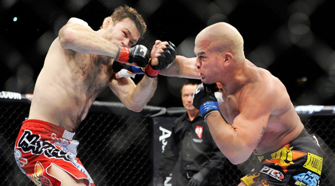 Forrest Griffin (left) defeated Tito Ortiz in Ortiz's July 2012 farewell bout.