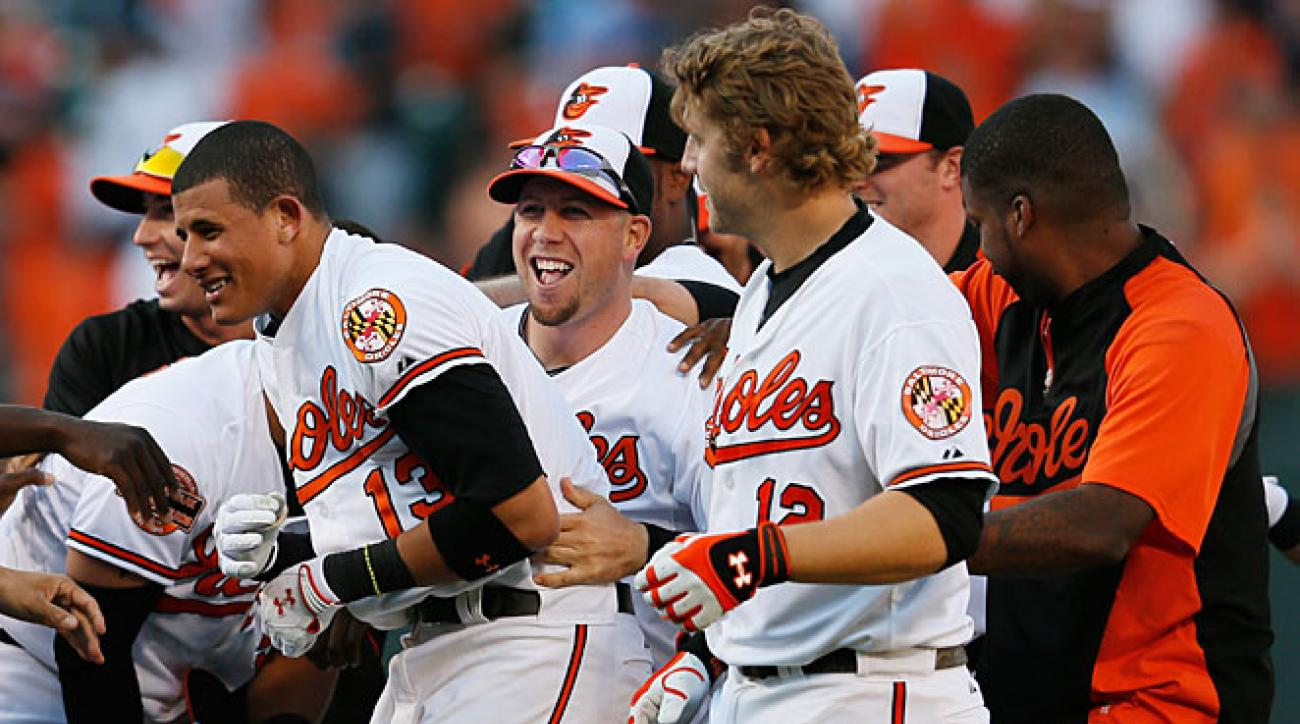 A full season of Manny Machado (No. 13) should help ensure that the Orioles' have plenty to celebrate this year.