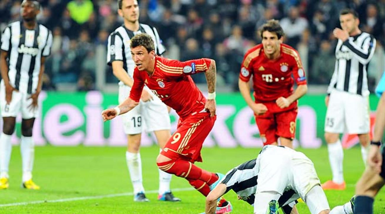 Bayern Munich's Mario Mandzukic celebrates his goal against Juventus on Wednesday.