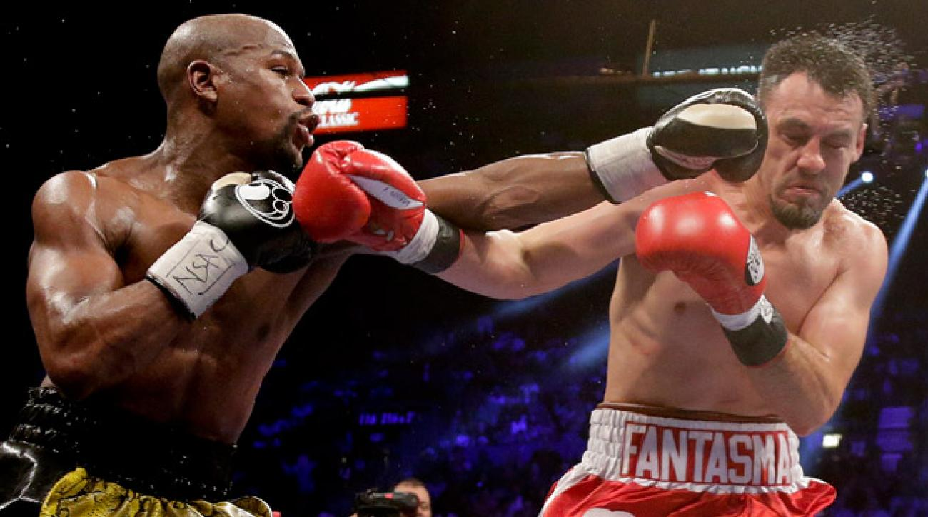 Floyd Mayweather landed punches all night in a thorough victory over Robert Guerrero on Saturday.