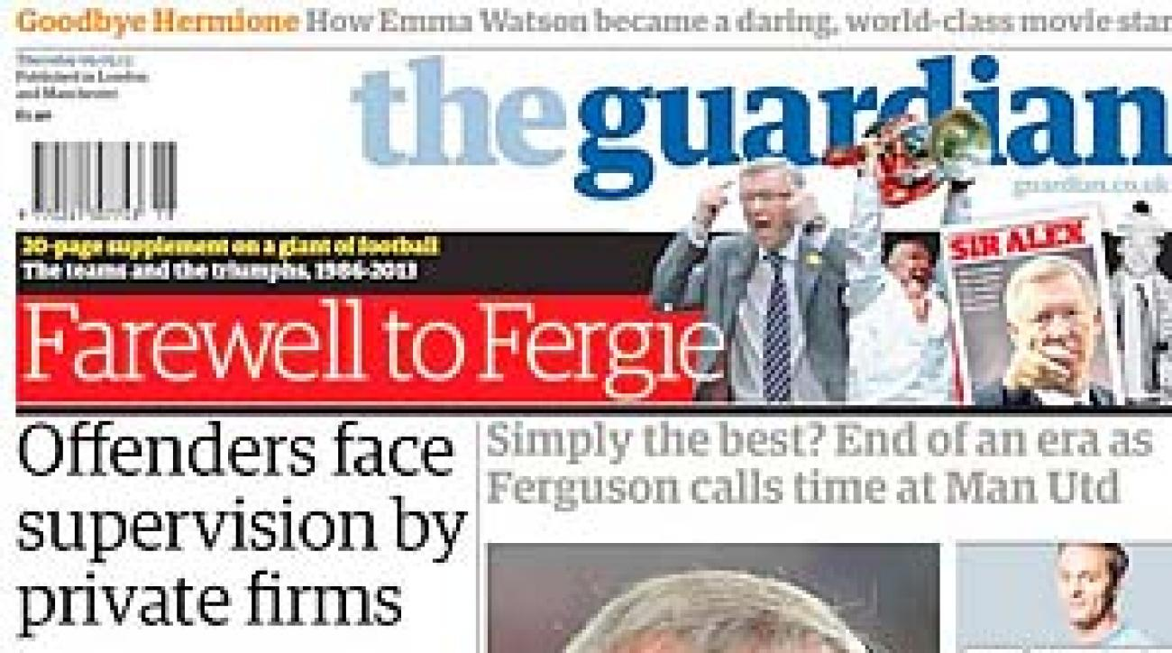 Sir Alex Ferguson was given a 20-page supplement in the Guardian.