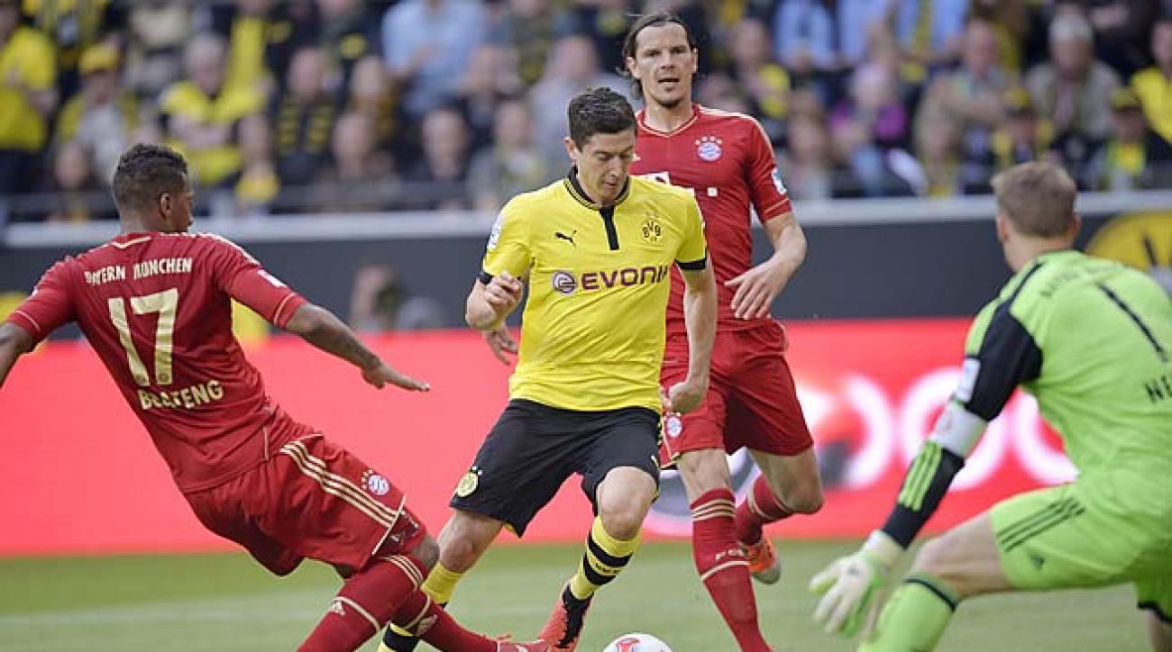 Robert Lewandowski had 24 goals in Bundesliga play this season, second in the league.
