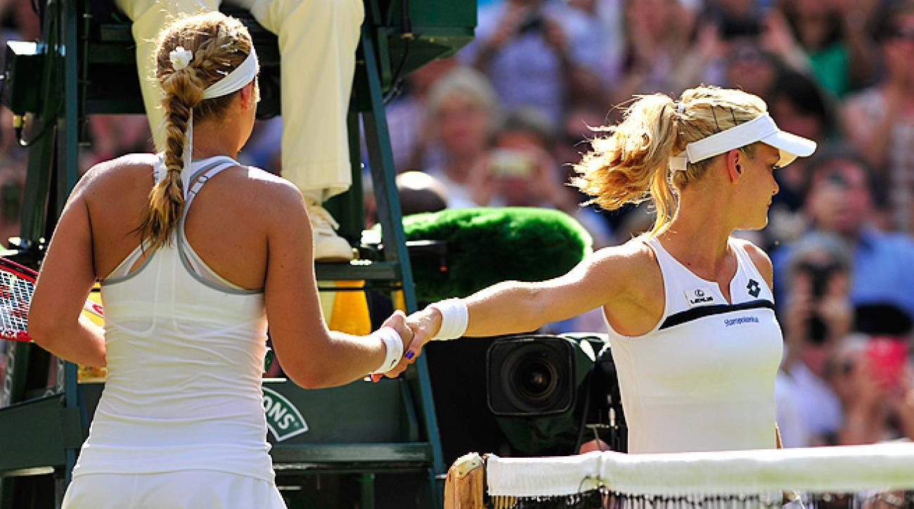 Agnieszka Radwanska gave a cold handshake after Sabine Lisicki defeated her in the Wimbledon semifinals.