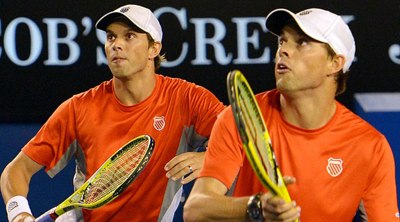 Mike (left) and Bob Bryan have won a record 15 Grand Slam titles, including four in a row.