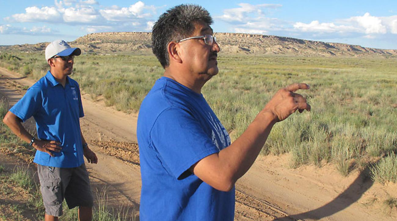 Rick Baker watches his team's grueling training, which ties to the sacredness of running in Hopi culture.