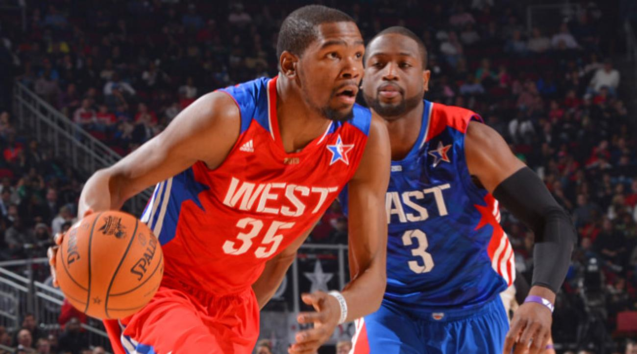 Thunder star Kevin Durant currently leads the NBA in scoring (31.2) by more than four points per game.