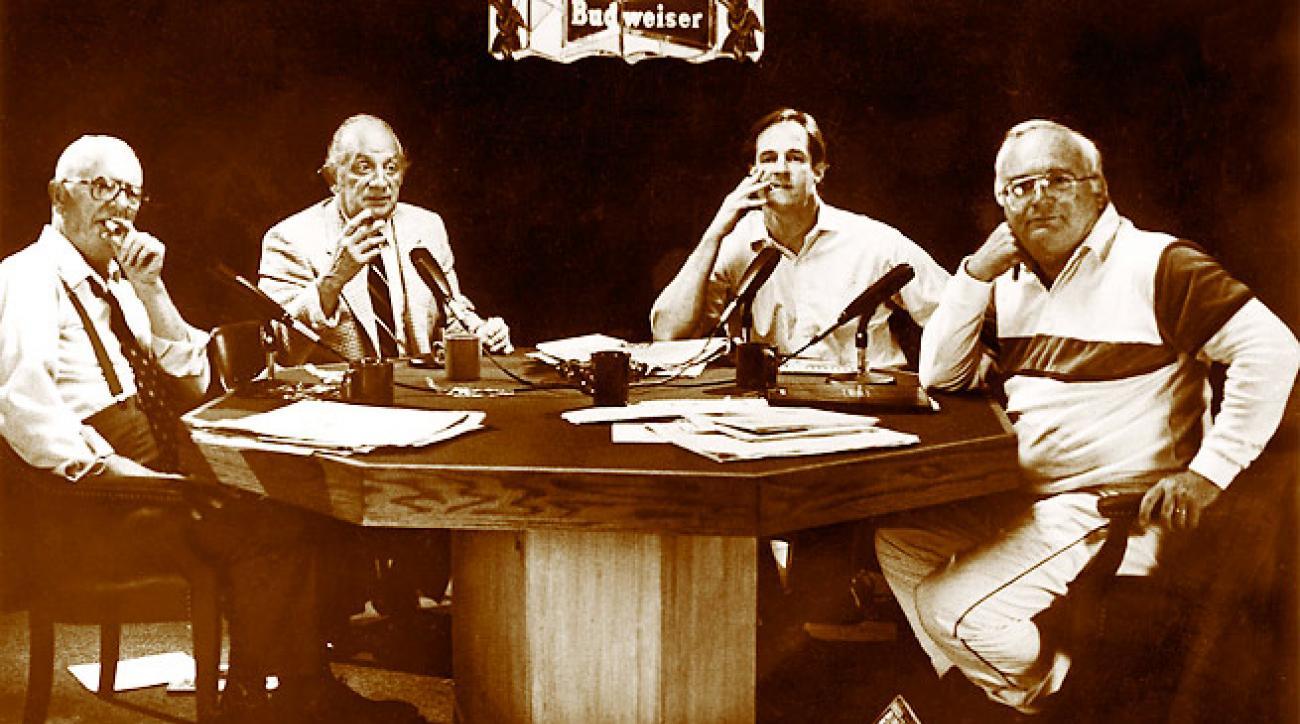 Panelists (l-r) Gleason, Bentley, Telander and Jauss were always well-informed, if not well-groomed.