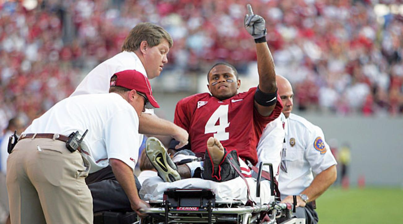 Known for his amazing catch against Southern Miss, Alabama WR Tyrone Prothro's career was cut short.