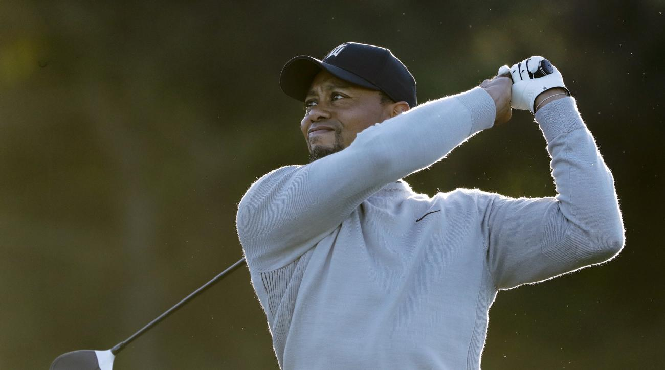 Tiger Woods watches his tee shot on the sixth hole of the north course during the Pro-Am event of the Farmers Insurance Open golf tournament Wednesday, Jan. 25, 2017, in San Diego. (AP Photo/Gregory Bull)