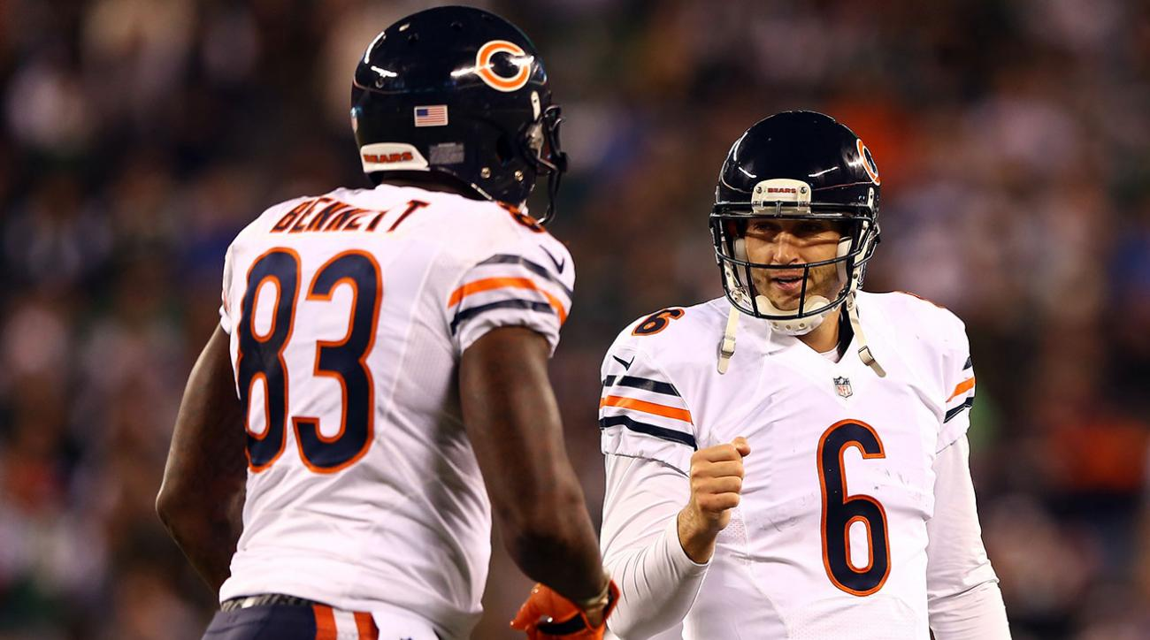 Martellus Bennett and Jay Cutler