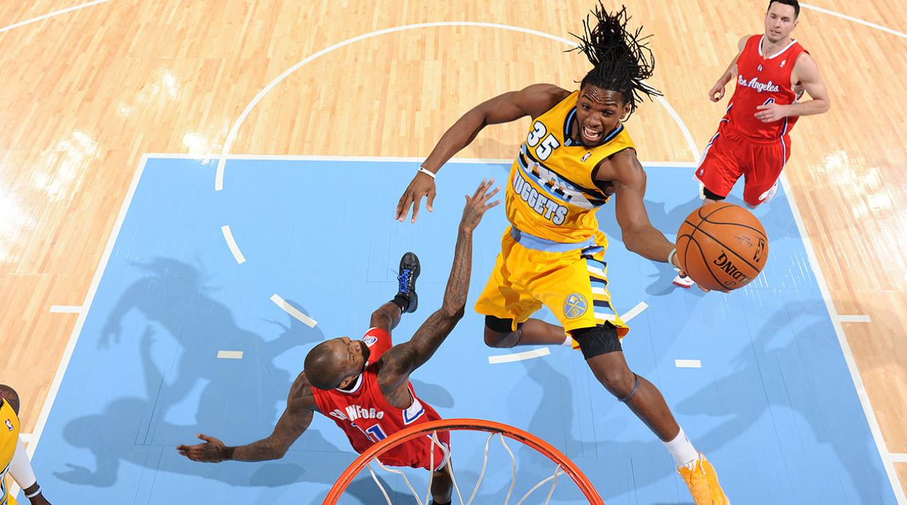 Forward Kenneth Faried signs a 5-year extension with the Denver Nuggets.