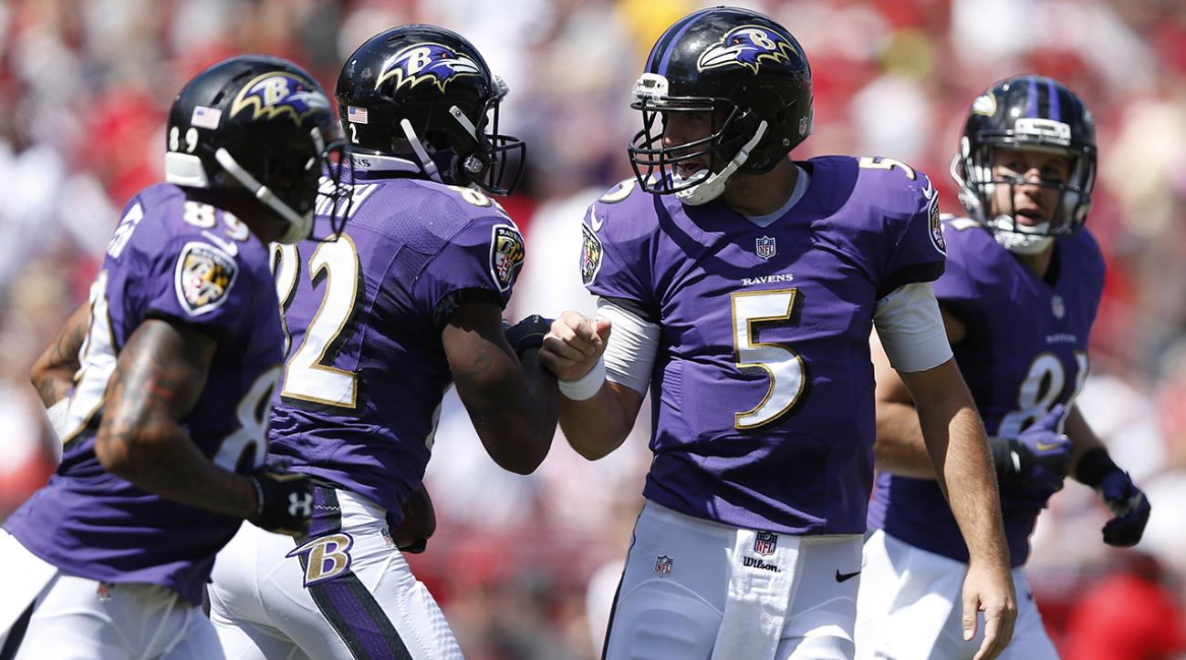 flacco throws five tds