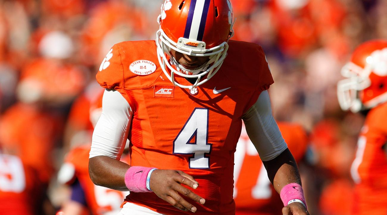 Clemson QB Deshaun Watson will have hand surgery that will likely sideline him for a month.