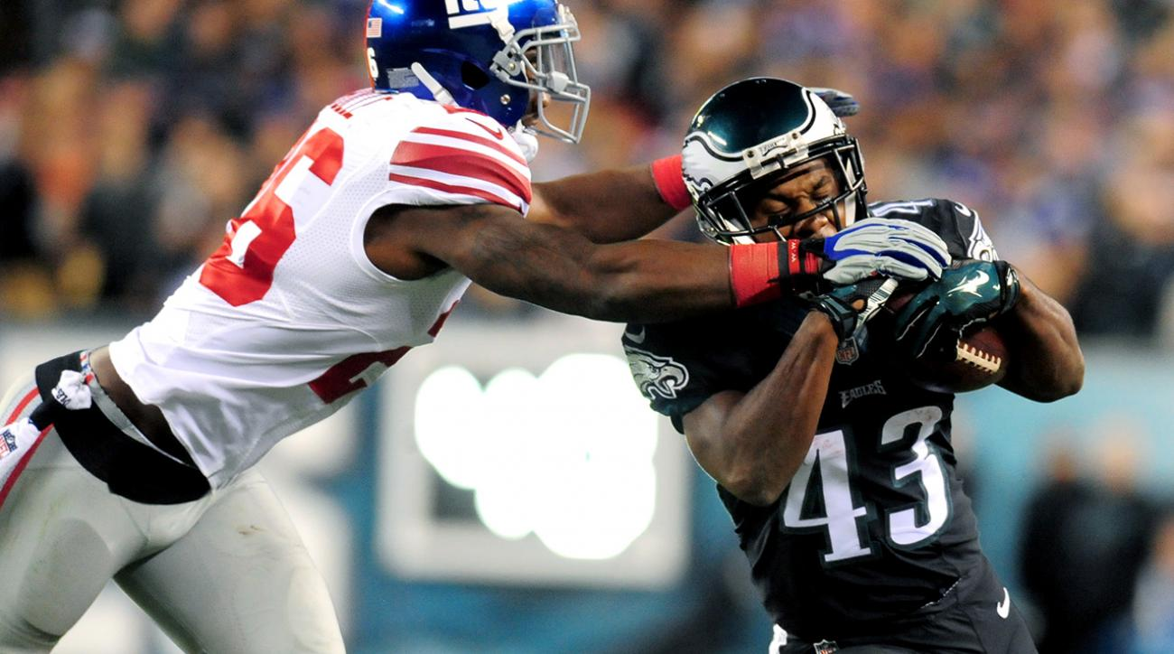 Philadelphia Eagles RB Darren Sproles will miss 2-3 weeks with a sprained MCL.