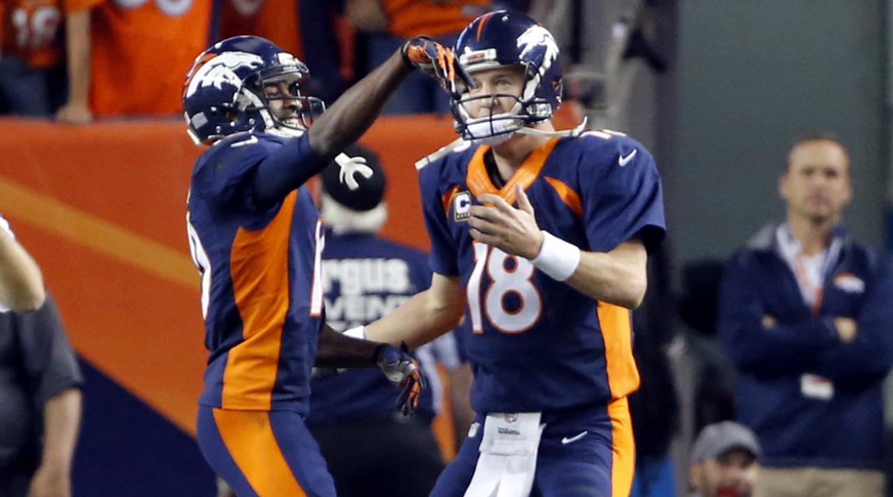 Peyton Manning's record-setting TD celebration staged