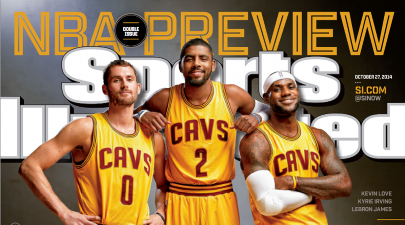 "LeBron James and ""All the King's Men"" featured on the cover of SI"