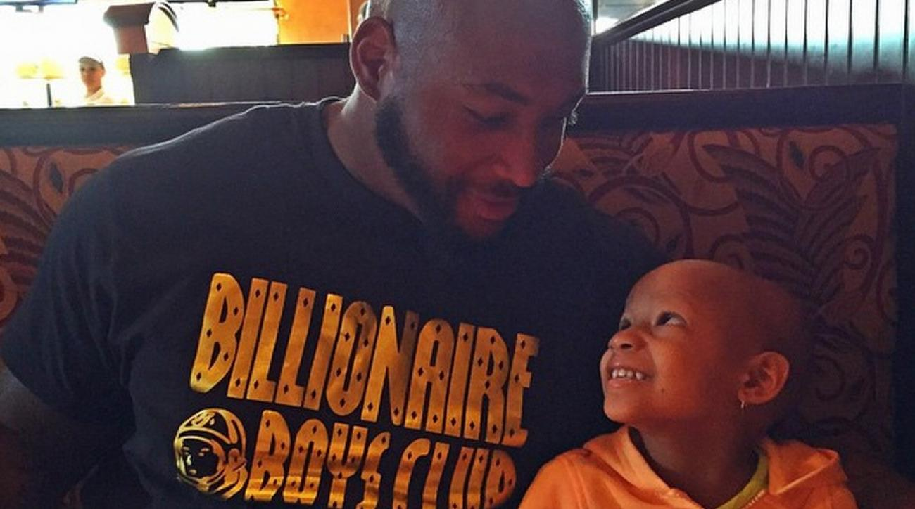 Bengals Devon Still and his daughter Leah