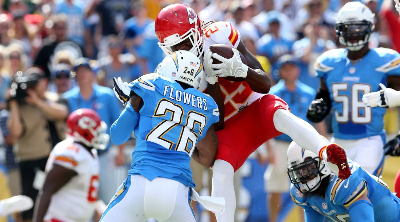 San Diego Chargers CB Brandon Flowers will miss Thursday's game against the Broncos with a concussion.
