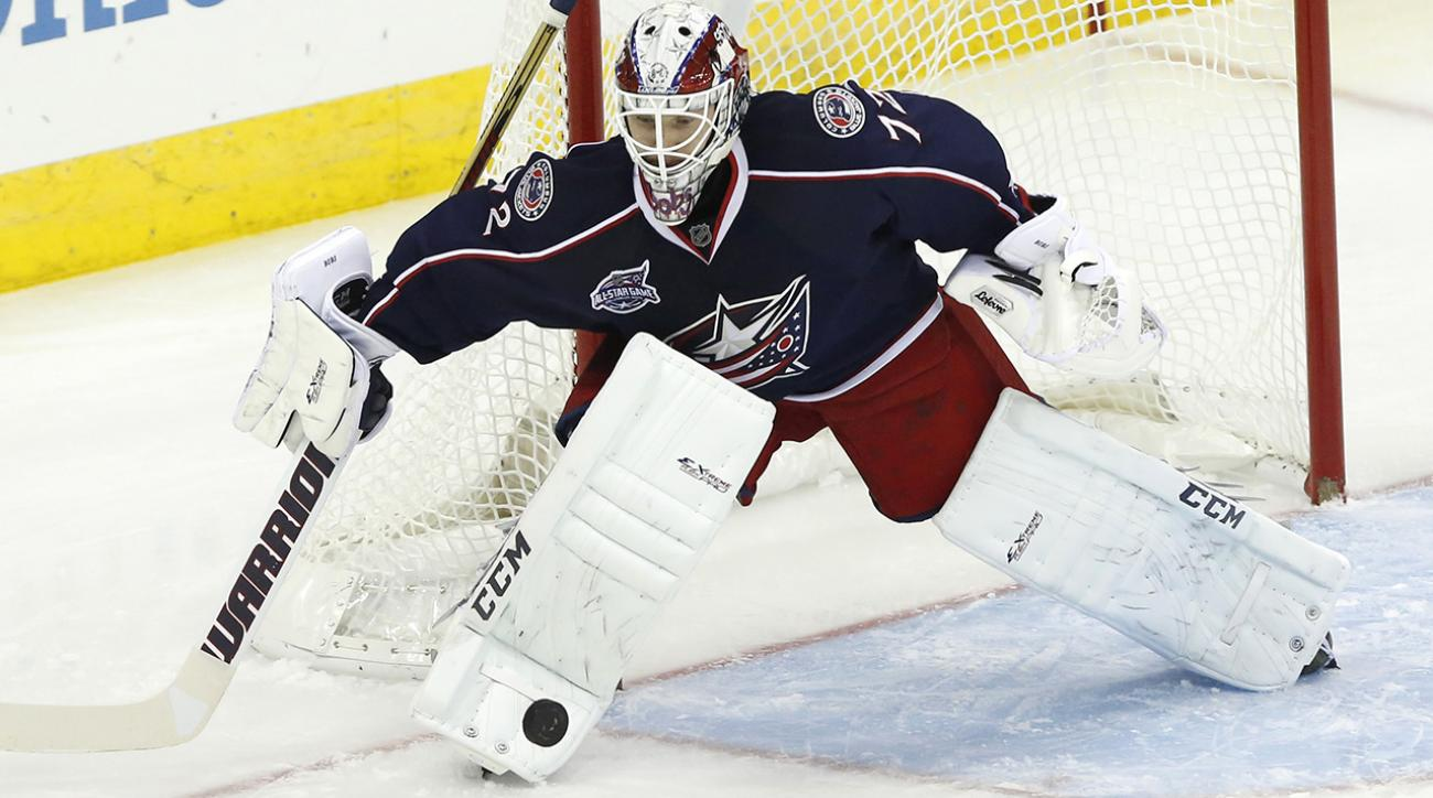 Blue Jackets place goaltender Sergei Bobrovsky on IR
