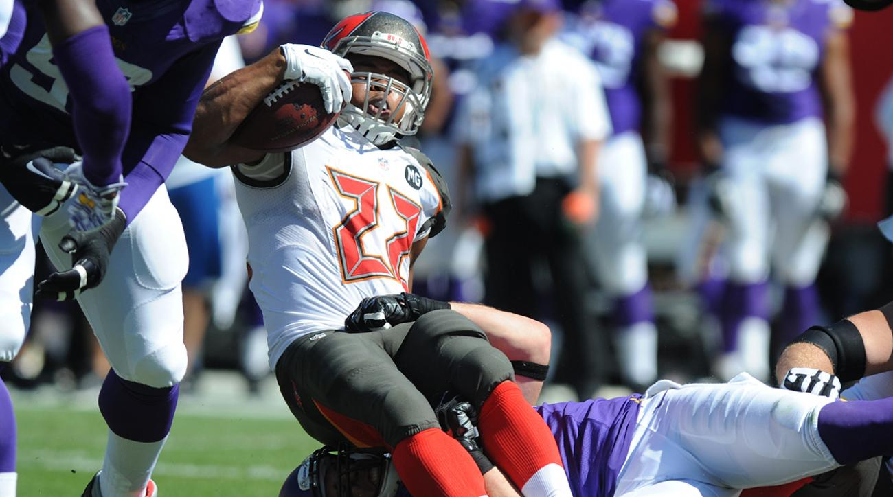 Buccaneers RB Doug Martin missed third straight day of practice, could miss third game of season.
