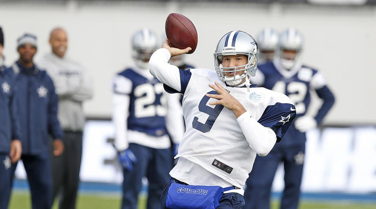 tony romo practices london