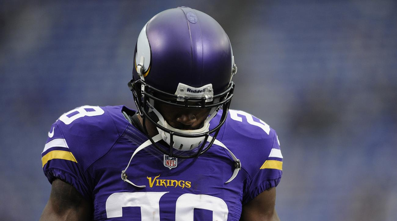 Minnesota running back Adrian Peterson's future as a Viking is in doubt