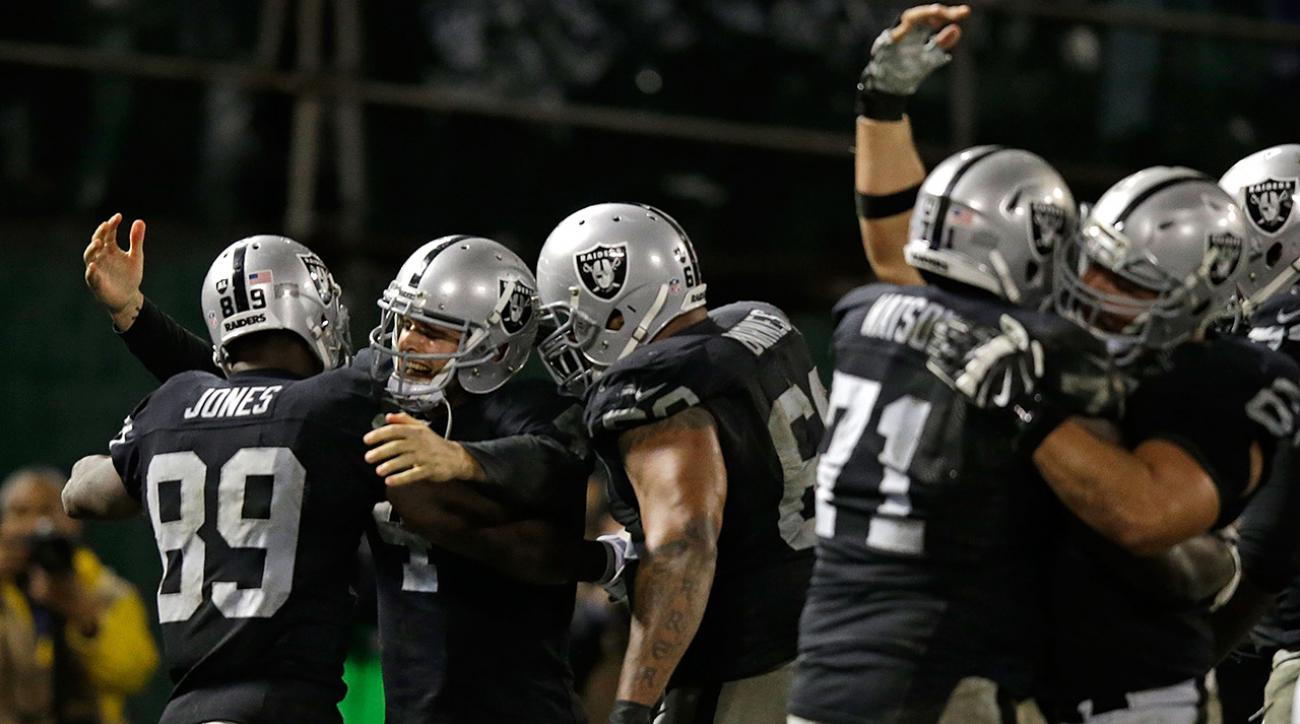 oakland raiders win