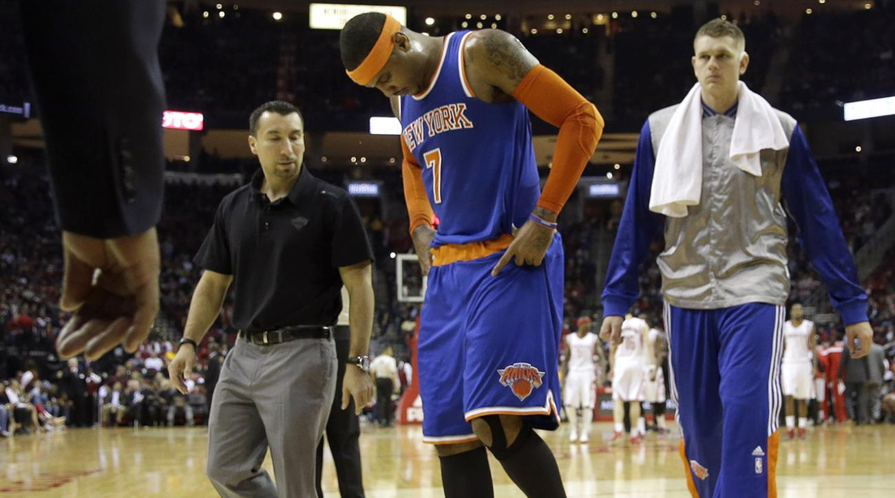 Carmelo Anthony leaves game early with back spasms