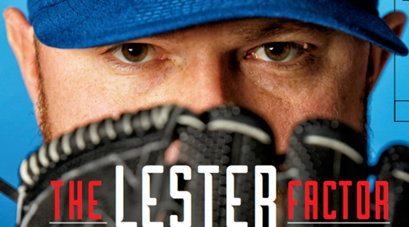 Jon lester featured on this week's Sports Illustrated cover