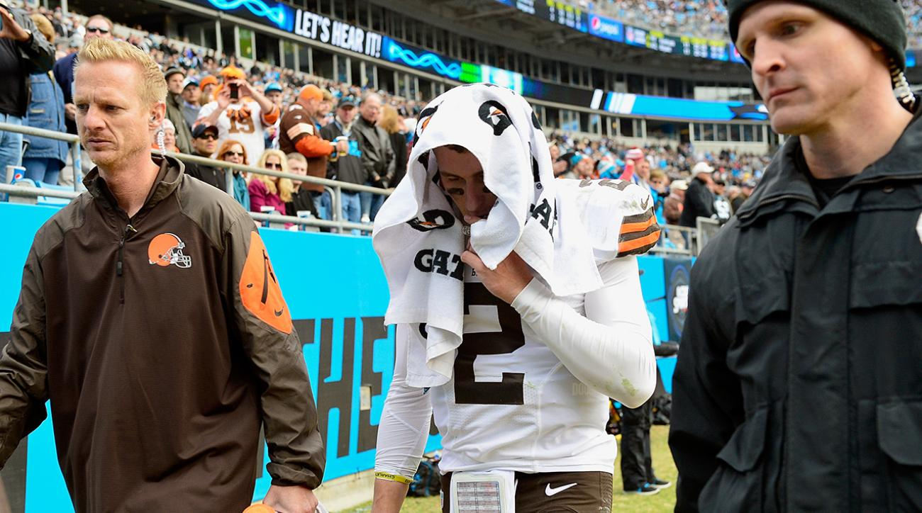 Johnny Manziel injured in second start, doesn't return